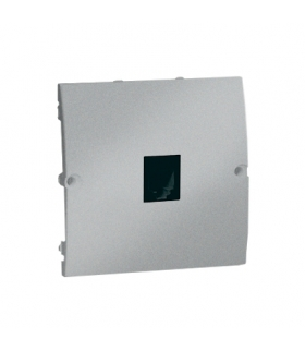 Gniazdo telefoniczne pojedyncze RJ11 aluminiowy, metalizowany MTO.01/26