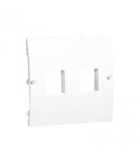 Pokrywa gniazd teleinformatycznych na Keystone płaska podwójna biały MGK1P/11
