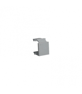 Zaślepka otworu wtyku RJ45/RJ12  pokrywy gniazda teleinformatycznego aluminiowy, metalizowany BWB/26