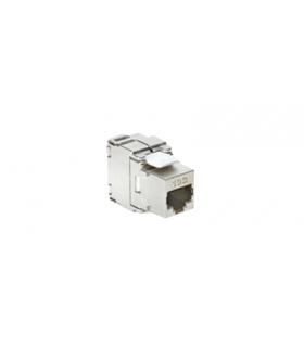 WYCOFANY Z OFERTY - Dostępny do wyczerpania zapasów magazynowych, wkład gniazda komputerowego RJ45 kat.6A, ekranowany (STP) stal