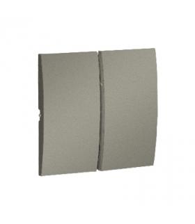 Klawisz podwójny do łączników i przycisków platynowy, metalizowany MKW5/27