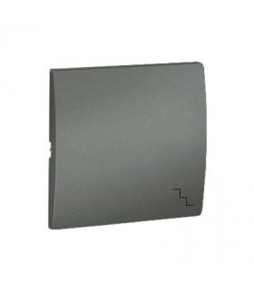 Klawisz pojedynczy do łączników i przycisków grafitowy, metalizowany MKW6/25