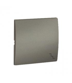 Klawisz pojedynczy do łączników i przycisków platynowy, metalizowany MKW6/27