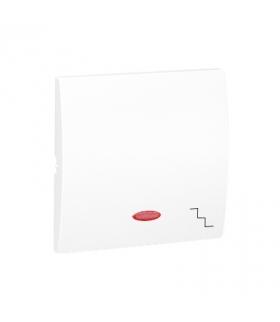 Klawisz pojedynczy z oczkiem do łączników i przycisków podświetlanych biały MKW6L/11