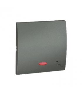 Klawisz pojedynczy z oczkiem do łączników i przycisków podświetlanych grafitowy, metalizowany MKW6L/25