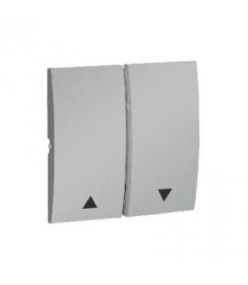Klawisz podwójny do łączników i przycisków aluminiowy, metalizowany MKZ1/26