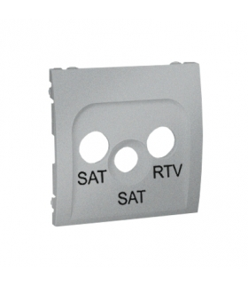 Pokrywa do gniazda antenowego SAT-SAT-RTV aluminiowy, metalizowany MAS2P/26