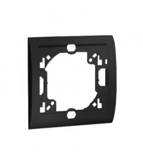 Ramka 1- krotna grafit mat, metalizowany MR1/28