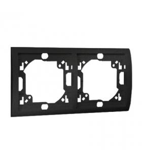Ramka 2- krotna grafit mat, metalizowany MR2/28