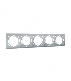 Ramka 5- krotna aluminiowy, metalizowany MR5/26