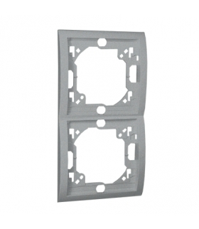 Ramka 2- krotna aluminiowy, metalizowany MR2P/26