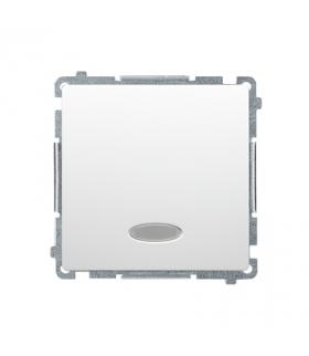 Łącznik jednobiegunowy z podświetleniem LED nie wymienialny kolor niebieski (moduł) 10AX 250V, szybkozłącza, biały BMW1L.01/11