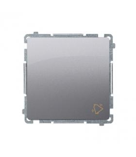"""Przycisk """"dzwonek"""" (moduł) 10AX 250V, szybkozłącza, inox, metalizowany BMD1.01/21"""