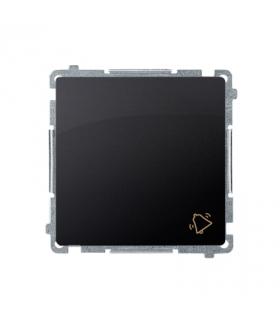"""Przycisk """"dzwonek"""" (moduł) 10AX 250V, szybkozłącza, grafit mat, metalizowany BMD1.01/28"""