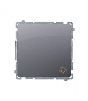 """Przycisk """"dzwonek"""" (moduł) 10AX 250V, szybkozłącza, srebrny mat, metalizowany BMD1.01/43"""