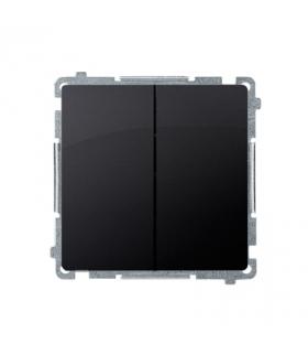 Przycisk podwójny zwierny. Dwuobwodowy 2 wejścia, 2 wyjścia. (moduł) 10AX 250V, szybkozłącza, grafit mat, metalizowany BMP2.01/2