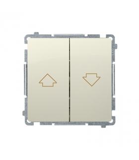 Przycisk żaluzjowy pojedynczy (moduł) 10A 250V, zaciski śrubowe, beżowy BMZ1.01/12