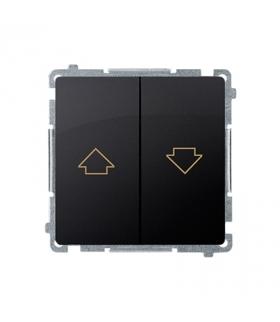Przycisk żaluzjowy pojedynczy (moduł) 10A 250V, zaciski śrubowe, grafit mat, metalizowany BMZ1.01/28