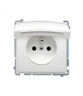 Gniazdo wtyczkowe pojedyncze w wersji IP44 - klapka w kolorze pokrywy biały 16A BMGZ1B.01/11