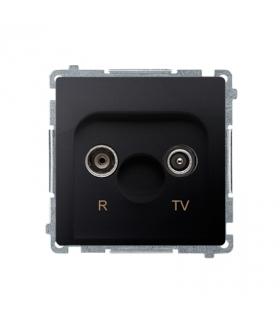 Gniazdo antenowe R-TV końcowe separowane tłum.1dB grafit mat, metalizowany BMZAR1/1.01/28