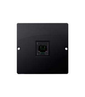 Gniazdo telefoniczne pojedyncze RJ11 (moduł) grafit mat, metalizowany BMTU.01/28