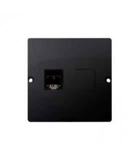 Gniazdo telefoniczne pojedyncze RJ11 (moduł) grafit mat, metalizowany BMTF1.02/28