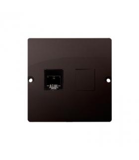 Gniazdo telefoniczne pojedyncze RJ11 (moduł) czekoladowy mat, metalizowany BMTF1.02/47