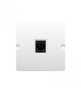 WYCOFANY Z OFERTY, gniazdo telefoniczne pojedyncze RJ11 (moduł) biały BMTO.01/11