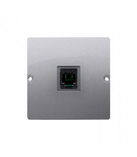 WYCOFANY Z OFERTY, gniazdo telefoniczne pojedyncze RJ11 (moduł) inox, metalizowany BMTO.01/21