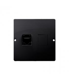 Gniazdo komputerowe pojedyncze RJ45 kategoria 5e (moduł) grafit mat, metalizowany BMF51.02/28