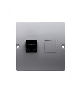 Gniazdo komputerowe pojedyncze RJ45 kategoria 5e (moduł) inox, metalizowany BMF51.02/21