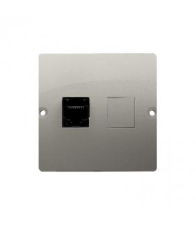 Gniazdo komputerowe pojedyncze RJ45 kategoria 5e (moduł) satynowy, metalizowany BMF51.02/29