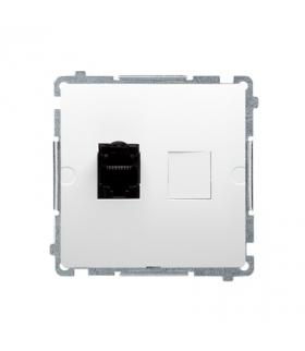 Gniazdo komputerowe pojedyncze ekranowane RJ45 kategoria 6, z przesłoną przeciwkurzową (moduł) biały BM61E.01/11