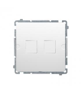 Pokrywa gniazd teleinformatycznych na Keystone płaska podwójna biały BMPT/11