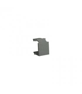 Zaślepka otworu wtyku RJ45/RJ12 pokrywy gniazda teleinformatycznego grafitowy, metalizowany BWB/25