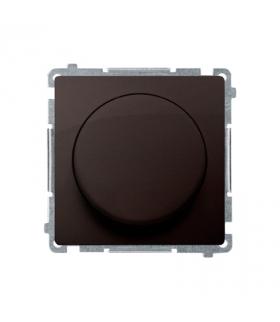 Ściemniacz do LED ściemnialnych, naciskowo-obrotowy, jednobiegunowy czekoladowy mat, metalizowany W układzie schodowymTak BMS9L.