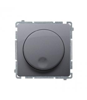 Ściemniacz naciskowo-obrotowy srebrny mat, metalizowany BMS9T.01/43