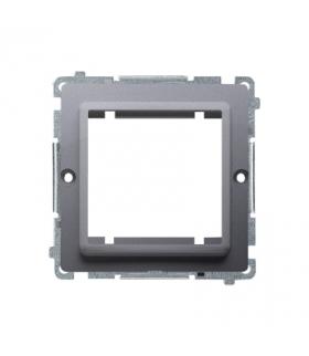 Adapter przejściówka na osprzęt standardu 45×45 mm srebrny mat, metalizowany BMA45/43