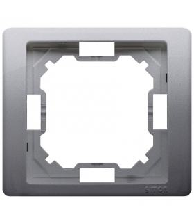 Ramka 1- krotna inox, metalizowany BMRC1/21