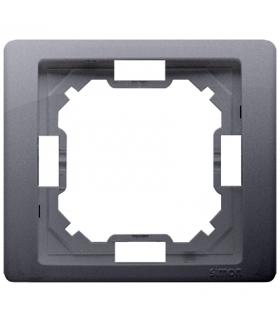 Ramka 1- krotna srebrny mat, metalizowany BMRC1/43