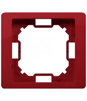 Ramka 1- krotna rubinowy, metalizowany BMRC1/033