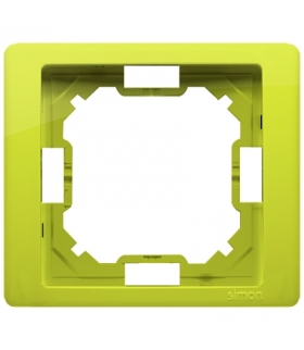 Ramka 1- krotna limonkowy, metalizowany BMRC1/036