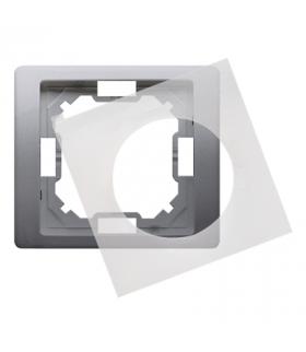 Ramka 1- krotna IP44 inox, metalizowany BMRC1B/21