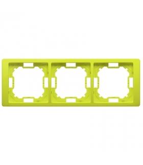 Ramka 3- krotna limonkowy, metalizowany BMRC3/036