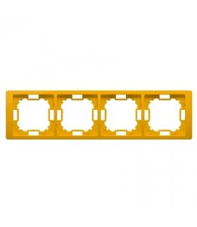 Ramka 4- krotna słoneczny, metalizowany BMRC4/034