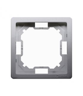 Ramka 1- krotna inox, metalizowany BMR1/21