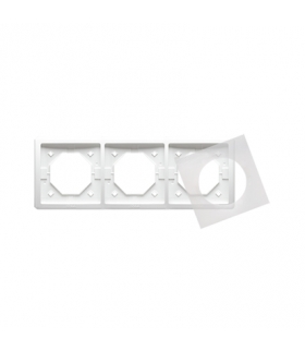 Ramka 3- krotna IP44 biały BMR3B/11