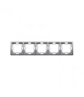 Ramka 5- krotna inox, metalizowany BMR5/21