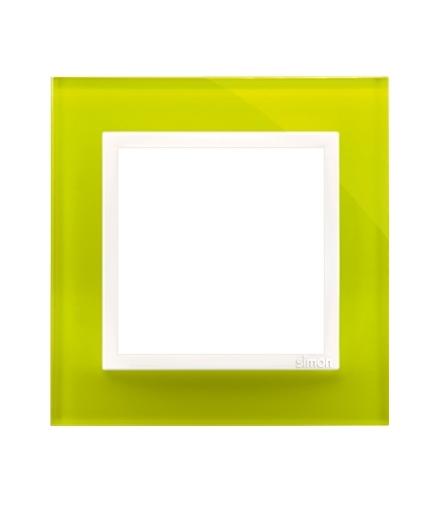Ramka 1-krotna szklana limonkowy sorbet DRN1/90