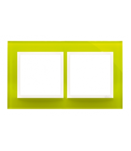 Ramka 2- krotna szklana limonkowy sorbet DRN2/90